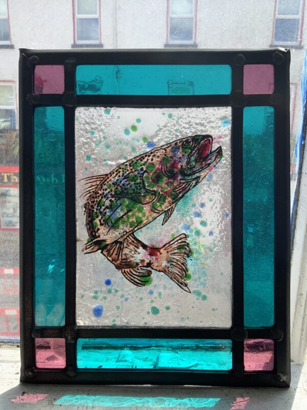 Stained glass fish